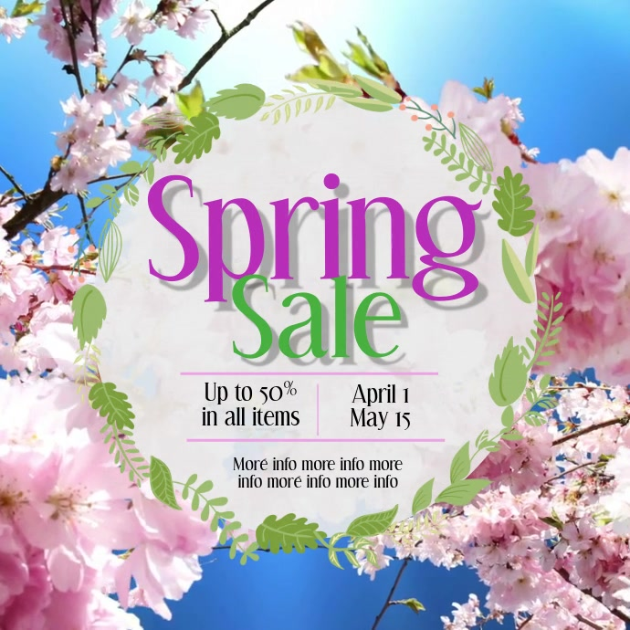Spring Sale Instagram video