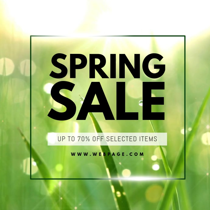 Spring Sale Instagram video promotion template Vierkant (1:1)