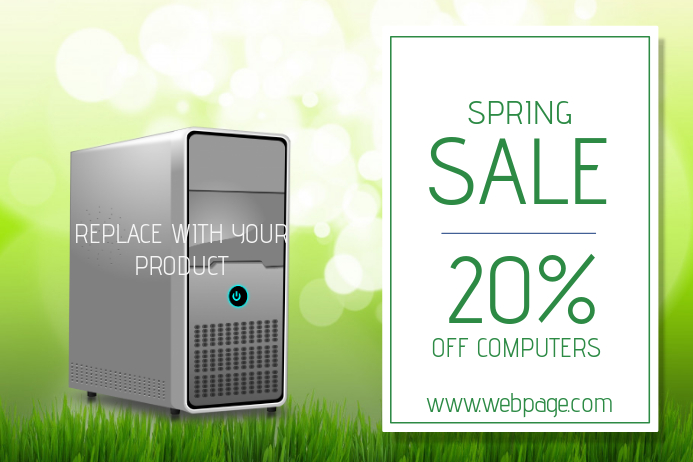 spring sale flyer template landscape- add your product