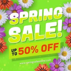 Spring Sale Modern Letters Flower Animation Instagram Post template