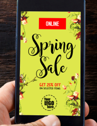 Spring Sale Online Cel Phone Flyer Ad