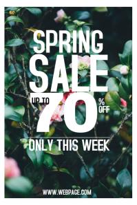 spring sale portrait poster template in purple Cartaz