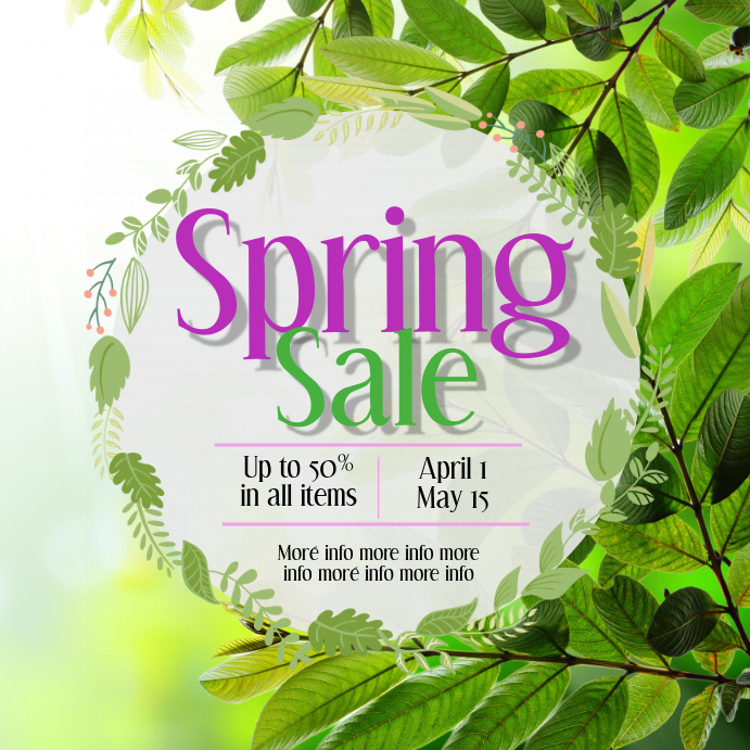 Spring Sale post
