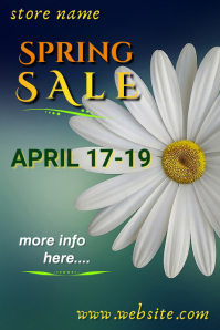 Spring Sale Poster Cartaz template