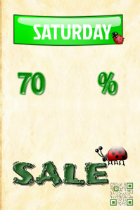 Spring sale poster - PosterMyWall - Green template (Garden theme)
