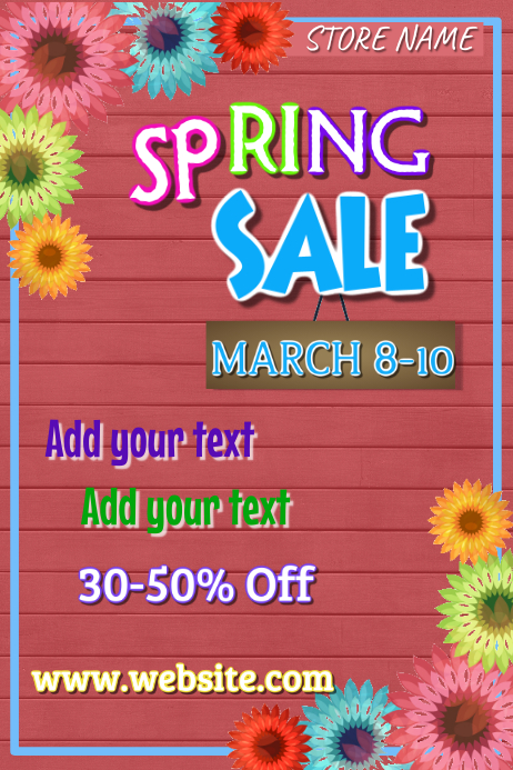 Spring Sale Poster Template Iphosta
