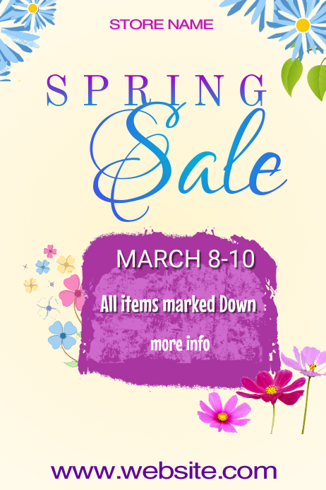 Spring Sale Poster Template