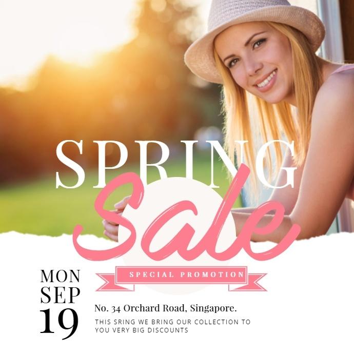 Spring Sale Promotion Instagram Post template