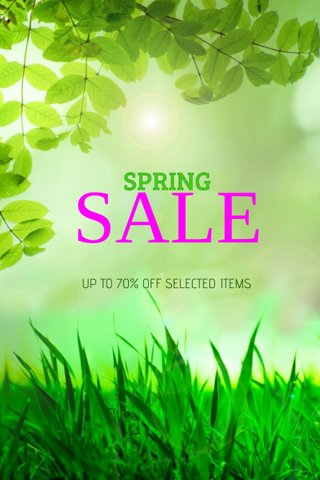 spring sale promotion flyer template