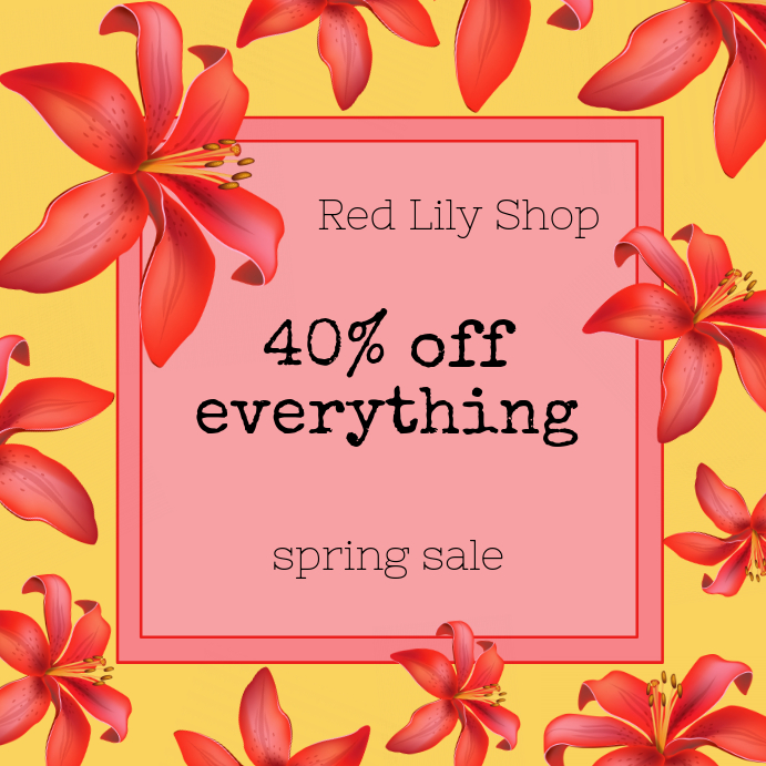 Spring Sale Red Lily