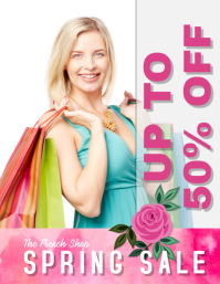 spring sale retail sales flyer