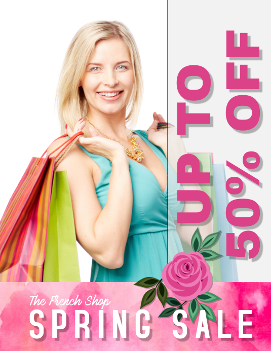 spring sale retail sales flyer