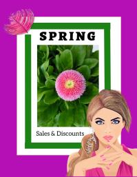 spring/sale/retail/store ad/primavera/flower