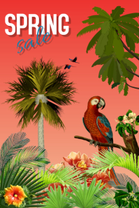spring sale/retail/tropical/discount/mall