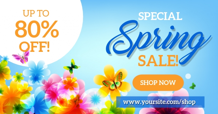 Spring Sale Social Media Facebook Shared Image template