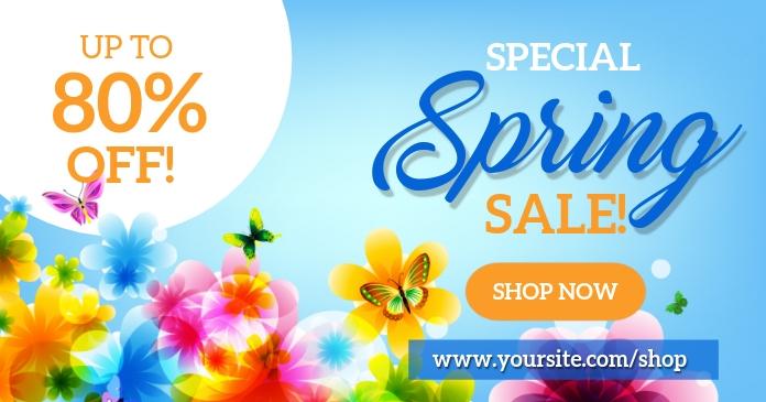Spring Sale Social Media Gambar Bersama Facebook template