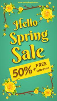 Spring Sale Social media story design template