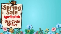 Spring Sale Social Media Template Digitalanzeige (16:9)