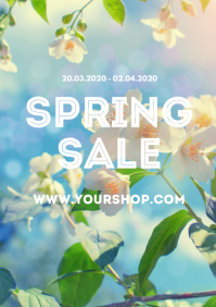 Spring Sale Store Online Shop Flowers Square