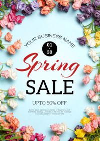spring sale upto 50% off A4 template