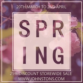 Spring Sale Video Ad Template