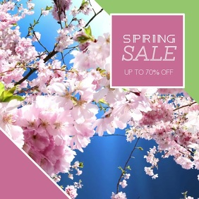 Spring sale Video Advertising template for instagram
