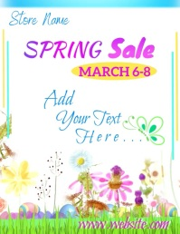 Spring Sale Video Flyer (US Letter) template