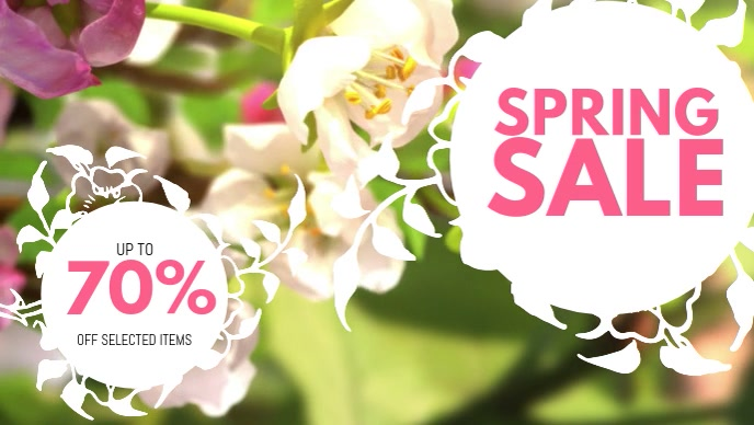 Spring Sale Video Template Facebook Cover