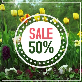 Spring Sale Video Flowers Easter Lawn Offer Promo Instagram Post template