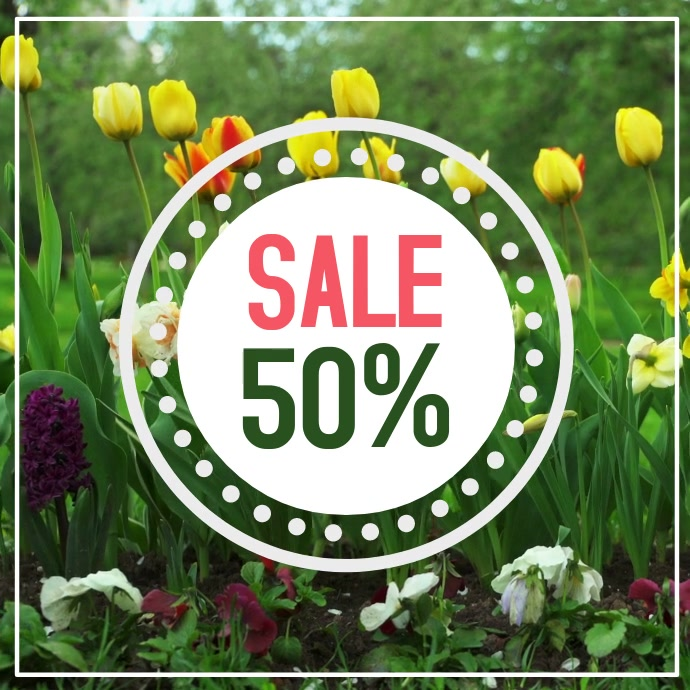 Spring Sale Video Flowers Easter Lawn Offer Promo