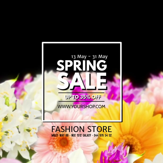 Spring Sale video sell-out advert promo flowers store retail