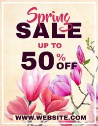Spring sales 50%off flyer advertisement
