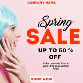 Spring sales advertisement instagram post