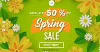 Spring Sales Anúncio do Facebook template
