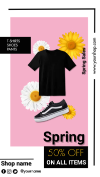 Spring Sales Digital Display (9:16) template