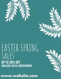 spring sales flyer advertisement