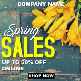 Spring sales instagram advertisement wooden b