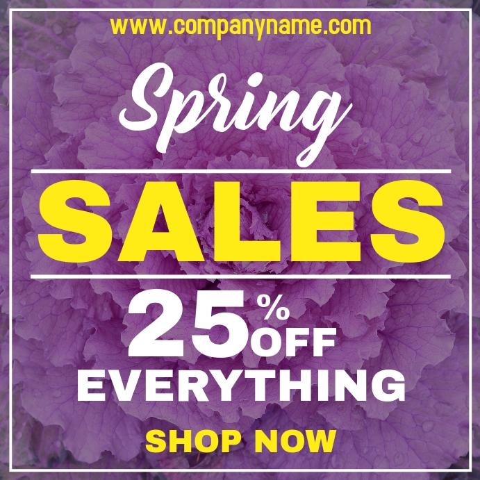 Spring sales instagram post advertisement template