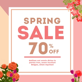 Spring sales instagram post advertisement