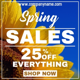 Spring sales instagram post advertisement template