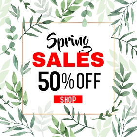 Spring sales up to 50% off. instagram post