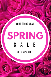 SPRING SALESTORE BANNER POSTER FOR SALE