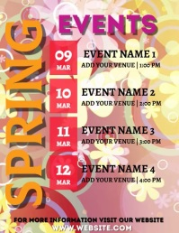 spring schedule, festival, events