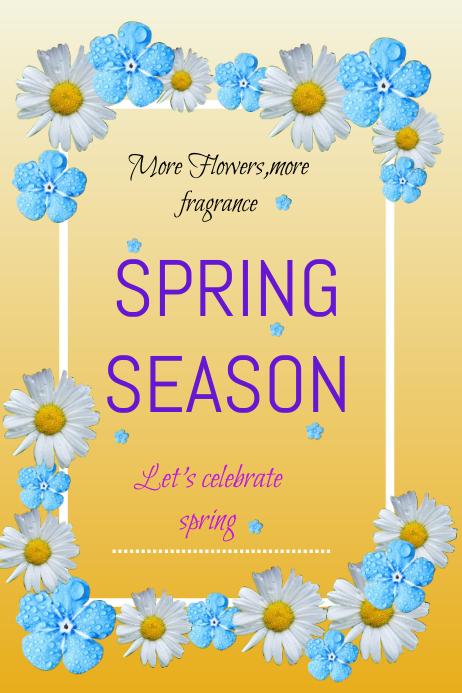 spring season flyer 海报 template