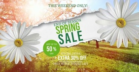 Spring Season Sale Flyer Template Imagem partilhada do Facebook