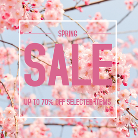 Spring season sale instagram post template