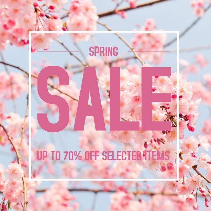 Spring season sale instagram post template