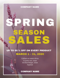 Spring season sales flyer