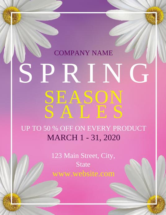 Spring season sales flyer Folder (US Letter) template