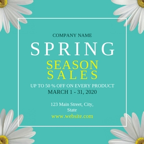 Spring season sales instagram template